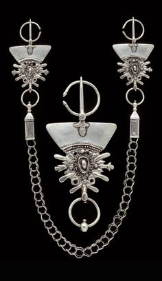 Morocco | Berber fibula; silver | Acquired by the museum in 1984