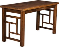 Amish Outlet Store : Modern Work Desk in Maple (Brown)