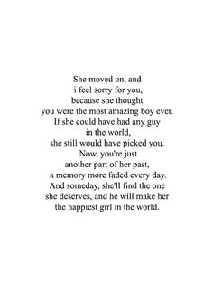 she moved on.