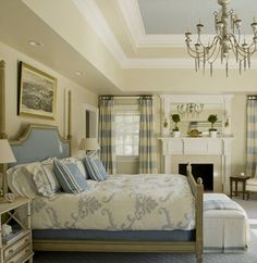blue and soft white and cream ~ Kelley Proxmire design