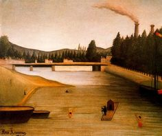 Bathing+at+Alfortville+-+Henri+Rousseau
