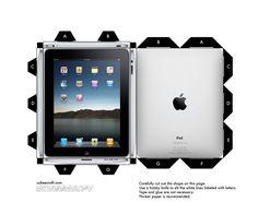 Papercraft Templates | ... Toy papercraft iPad Cubee template preview Un iPad en papercraft (x 2