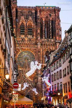 It's Christmas in Strasbourg, France.