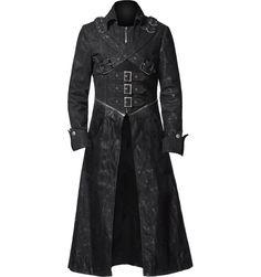 Gothic Trench Coat, Denim Trench Coat, Gothic Men, Gothic Lolita, Dark Gothic, Gothic Dress, Victorian Gothic, Gothic Girls, Lolita Dress