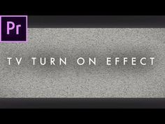 In this tutorial, we learn how to get the TV turn off / on effect in Adobe Premiere Pro CC 2017 without plugins. This is a quick and easy vlog intro or music. Adobe After Effects Tutorials, Effects Photoshop, Photography Lessons, Photography And Videography, Web Design, Graphic Design Tutorials, Film Effect, Film Tips, Visual And Performing Arts