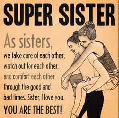 I am so thankful for my sister. She is the best and I love her with ALL of my heart! Sister Poems, Sister Quotes Funny, Sister Birthday Quotes, Funny Quotes, Love My Sister, My Love, Sister Sister, Sister Gifts, Brother