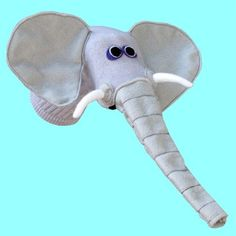 Elephant Sock Puppet. $38.00, via Etsy.