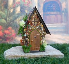 Fairy House/ Stone Fairy Cottage/ The Megan by TheHealersGarden