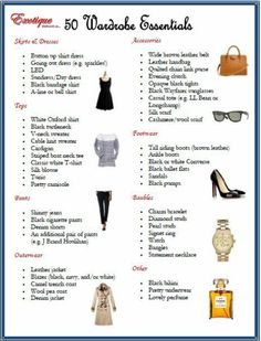 Image result for wardrobe essentials for women