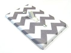 White and Gray Chevron Blake Light Switch Cover  Modern Home Decor Grey Gender Neutral Nursery Decor