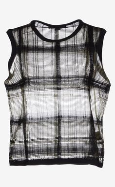 Alexander Wang ~ All in the print. #black #plaid #summer