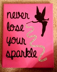 Sorority Crafts - Disney Tinkerbell Leinwand - Painting Ideas On Canvas Disney Diy, Disney Crafts, Disney Ideas, Mini Canvas, Cute Canvas, Canvas Canvas, No Ordinary Girl, Roommate Gifts, Diy Y Manualidades