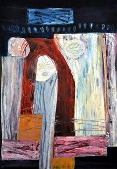 Ehssan Sattouf  2003 (No Title) Oil on paper 100×70 cm