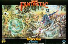"Elton John - Poster of the LP ""Captain Fantastic and the Brown dirt cowboy - 1975"