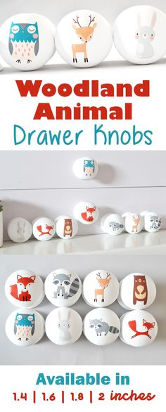 How adorable are these woodland animal drawer knobs! Really cute little handles! Perfect for the wardrobes in the nursery. Can't wait to put these in my baby boy's nursery! Baby Boy Room Decor, Baby Room Art, Baby Boy Rooms, Baby Boy Nurseries, Kids Rooms, Fox Nursery, Woodland Nursery Decor, Girl Nursery, Nursery Design