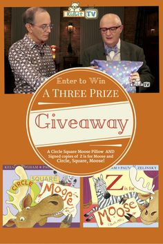 KidLit TV author interview with Caldecott winning Paul Zelinsky.  Plus Enter a giveaway for the books Circle, Square Moose and Z is for Moose and  Circle Square Moose Pillow.