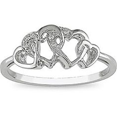 @Overstock - Click here for Ring Sizing Chartdiamond ring features entwined hearts10k white gold jewelryhttp://www.overstock.com/Jewelry-Watches/10k-White-Gold-Diamond-Entwined-Heart-Ring/4178795/product.html?CID=214117 $121.99
