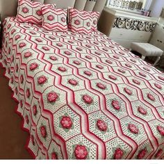 Crochet Bedspread Pattern, Bed Spreads, Comforters, Quilts, Blanket, Ann, Plaid, Home, Crocheting