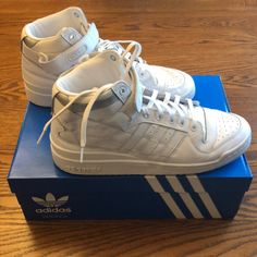 c23fd4ddda2 adidas Shoes | Adidas Forum Mid Refined 10.5 | Color: White | Size: 10.5