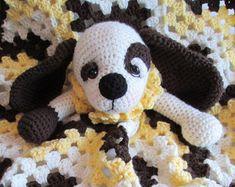 Crochet Pattern Lamb Huggy Blanket Lovey by Teri por TCrewsDesigns