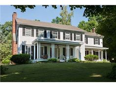 Clinton, NY 12580 — Fabulous center hall colonial with farmhouse feel. House and two-story barn completely rebuilt in 1988 in keeping with original period details. Eat in kitchen with breakfast bar, spacious rooms including dining room, living room with fireplace. Wonderful sunroom full of windows, wet bar and wine closet. Wide maple floors throughout; master bedroom suite and laundry on second floor. Heated pool, wonderful mature trees, privacy, beautiful property. Spectacular home for…