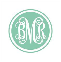 Vine Monogram Decal Circle Border Vine by CustomVinylbyBridge, $23.00