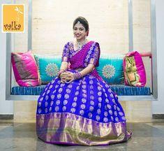 #SouthIndianBride #TheBride #Wedding #WeddingMoment #IndianBride #IndianGroom #SouthIndianWedding #Instagram #InstaDaily #InstaLove #WeddingInspiration #BridalInspiration #WeddingWebsite #IndianWeddingBlog #SouthIndianWeddingBlog #insta #Ezwed #EzwedBride #BridalBlouses #BridalGuide #weddingdecor #bridalhairstyle #bridaljewelry #bridesofinstagram #weddingphotography #BridalTribe #BridalForum #BridalInspo #Inspo Less Half Saree Lehenga, Kids Lehenga, Lehnga Dress, Bridal Lehenga, Half Saree Designs, Lehenga Designs, Saree Blouse Designs, Half Saree Function, Engagement Saree
