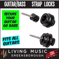New-Crossfire-D-Style-Guitar-Strap-Locks-Black