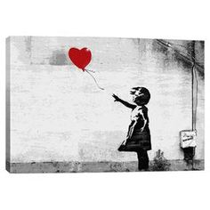 Perfect as a delightful focal point or part of a lovely vignette, this charming canvas giclee print showcases Banksy's There Is Always Hope.     Product: Canvas printConstruction Material: Pine wood, cotton canvas and fade-resistant inksFeatures: Reproduction of art by BanksyArrives ready to hang