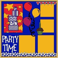 Cricut Sketch Thursday: Party Time www.Luvz2scrapbook.com