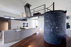 water tower conversion (interior), Steenokkerzeel, Belgium: BHAM Design Studio