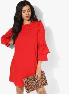 53cd235bd3a65 Buy Dorothy Perkins Red Coloured Solid Shift Dress for Women Online India,  Best Prices,. Jabong