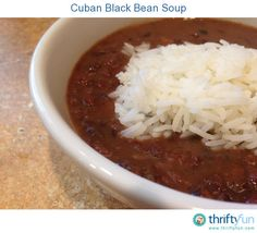 This is not your average black bean soup. This soup is full of flavor and can be served in numerous ways.