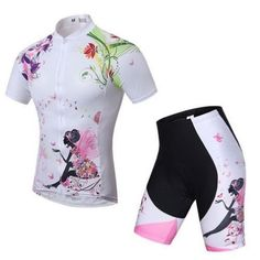MILEA QIN Cycling Jerseys M L Size Women Bicycle Jersey Bike Clothing  Padded Shorts Cycling Wear Uniforms -- Visit the image link more details. 310e5236f