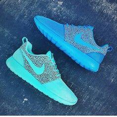 RARE Nike Roshe Run Premium x BLITZ BLUE Safari Pack Sz 12 rosherun
