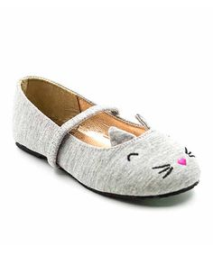 Look what I found on #zulily! Gray Meow Flat by Simply Petals #zulilyfinds