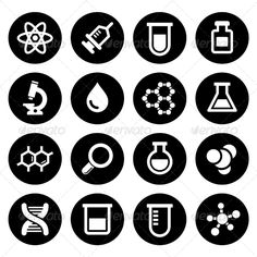 Chemical Icons Set — JPG Image #icon #chemistry • Available here → https://graphicriver.net/item/chemical-icons-set/7577315?ref=pxcr