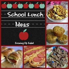 Ideas For School Lunches from Growing Up Gabel