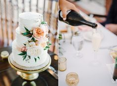 Champagne and Cake with real flowers - Tavares, Florida