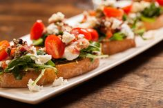 Burrata, Prosciutto & Arugula Bruschetta - Whipped Ricotta, Oven-Roasted Grape Tomatoes, Balsamic Glaze chwinery.com