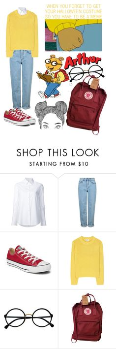 """Arthur Meme Costume"" by ayeeitsari ❤ liked on Polyvore featuring Misha Nonoo, Topshop, Converse, Acne Studios, Retrò and Fjällräven"