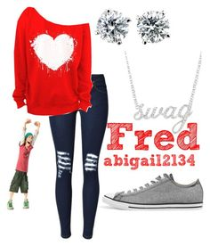 """""""Fred"""" by abigail2134 ❤ liked on Polyvore featuring Converse and Belk & Co."""