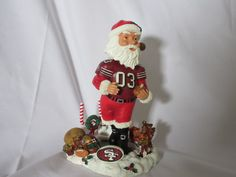 """San Francisco 49ers Legends of the Field """"Santa""""  NIB Bobblehead Collectible """"RARE"""" by Desired2Inspire on Etsy"""