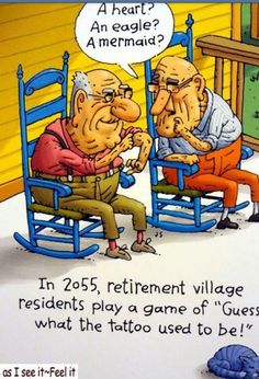 Aging and Tattoo Humor...