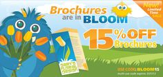 YAH -- think Spring! Get 15% off brochures during the month of March with code BLOOM15. Any style, any size. Award-winning brochure printing that makes you look good. Get My Brochure Deal: http://www.48hourprint.com/?discountcode=BLOOM15
