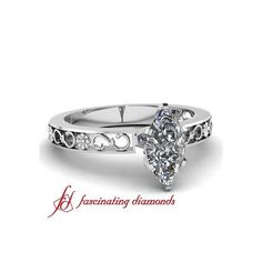 Prong Set Diamond Solitaire Vintage Engagement Ring ($415)