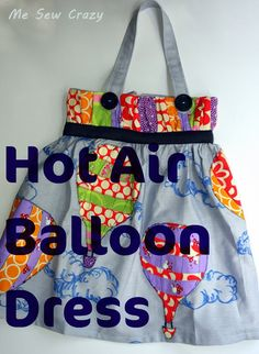 Hot Air Balloon Dress - The Sewing Rabbit