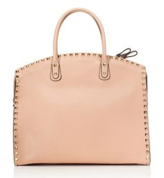 Valentino Resort 2013, Soft Noisette Rockstud Double Handle Tote
