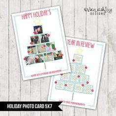 Custom Christmas Card // Instagram Christmas Tree // Holiday Photo Card // Digtial File