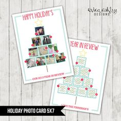 Custom Christmas Card // Instagram Christmas Tree // Holiday Photo Card // Digtial File